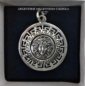 Le Prix Le Moins Cher Medusa Argento Ciondolo Collana Gorgona Magna Grecia Silver Necklace MÉduse