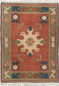Hand-knotted-Carpet-5-039-11-034-x-8-039-0-034-Traditional-Vintage-Wool-Rug-DISCOUNTED