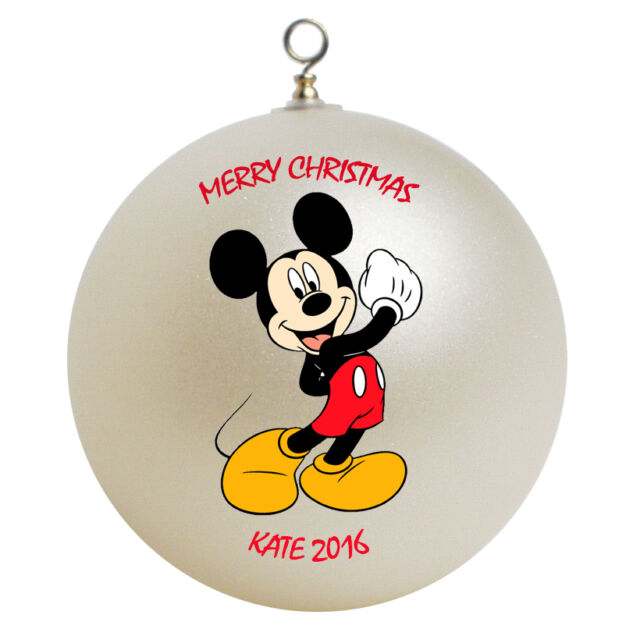 Personalized Mickey Mouse Christmas Ornament Gift - Personalized Mickey Mouse Christmas Ornament Gift EBay