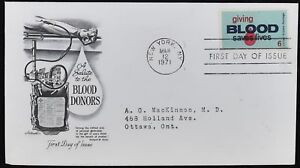 USA-1971-Blood-Donors-FDC-First-Day-Cover-C49420