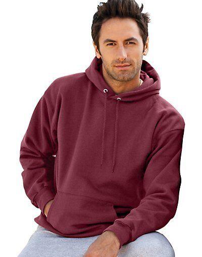 2 Hanes Ultimate Cotton Pullover Adult Hoodie Sweatshirts F170