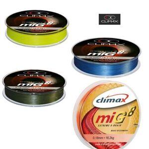 Climax miG8 fluo-orange 8fach geflochtene Schnur 0,13€//m