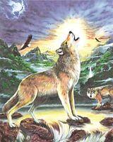 Malen Nach Zahlen Mit Buntstifte Wölfe
