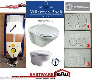 Geberit Duofix Vorwandelement Wand Wc-Set + Villeroy & Boch WC + ...