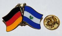 FREUNDSCHAFTSPIN PIN ANSTECKER DEUTSCHLAND / EL SALVADOR FAHNE METALL PINS NEU