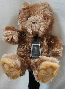 350cc-Golf-Club-Animal-Wood-HeadCover-TEDDY-BEAR-Fit-Reg-Driver-Fairway-Woods
