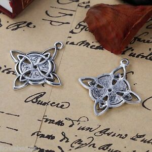 5PCs-Retro-Silver-Tone-Celtic-Knot-Rhombus-Pendant-Necklace-Jewelry-3-8x3-4cm