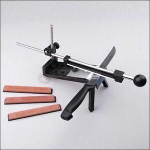 Knife Sharpener Professional Sharpening System + Sharpening Stone