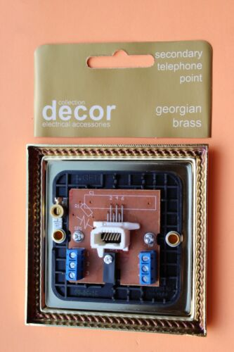 Homebase DIE CAST téléphone secondaire Socket Géorgien Corde Bord Laiton Noir Ins