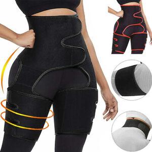 US Thigh Trimmer High Waist Trainer Body Shaper Butt Lifter Sweat Belt Exercise
