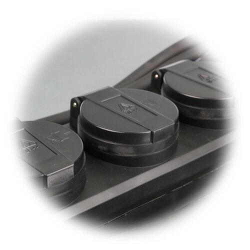 Außensteckose Steckdosenleiste mit Schalter Gartensteckdose Außen 4-fach IP44