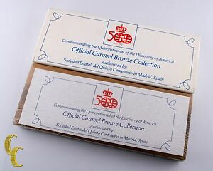 1492-1992 Official Caravel Bronze Collection 500 yr Commemorative Mint Sealed