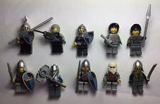 Lego Castle Kingdom 10 KNIGHTS minifig vintage Helmets, Shields Weapon Lot