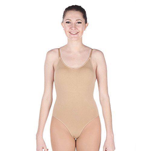 Capezio 9388 Women/'s Small 4-6 Black Camisole Leotard w// Adjustable Straps