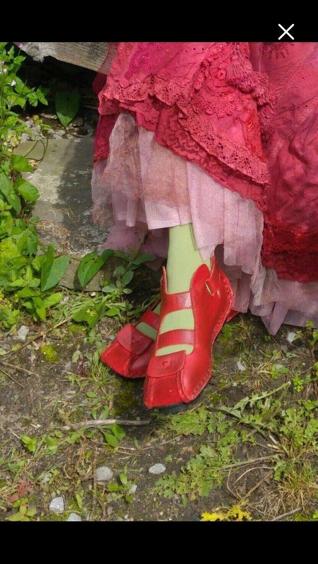 Zapatos Planos De De De Cuero Rojo  gran selección y entrega rápida