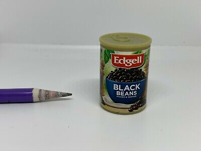 C021 Dollhouse Miniature Edgell Canned Black Beans migros coles supermarket