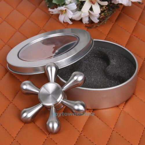 Metal Tri Fidget Hand Spinner 3D Focus Stress Reliever Toy For Adults Kids Gift