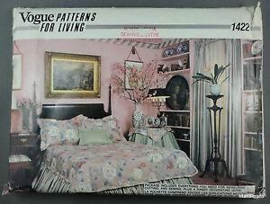 Vogue 1422 Bedroom Retro Home Decor Sewing Pattern Uncut W Guide Book 1980s Vtg Ebay