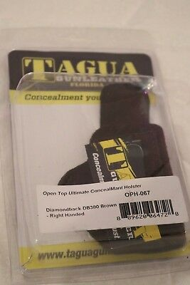 Brown Audacious Tagua Oph-067 Diamondback Db380 Open Top Ultimate Concealment Holster Ri