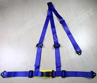 BLUE 3 POINT RACING SEAT BELT HARNESS FOR CAR/TRACK DAY/OFF ROAD BUGGY
