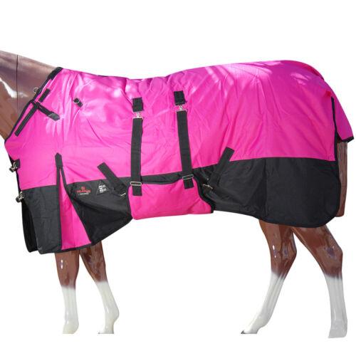 C-L-81 81 in Hilason 1200D Winter Waterproof Poly Horse Blanket Belly Wrap Pink