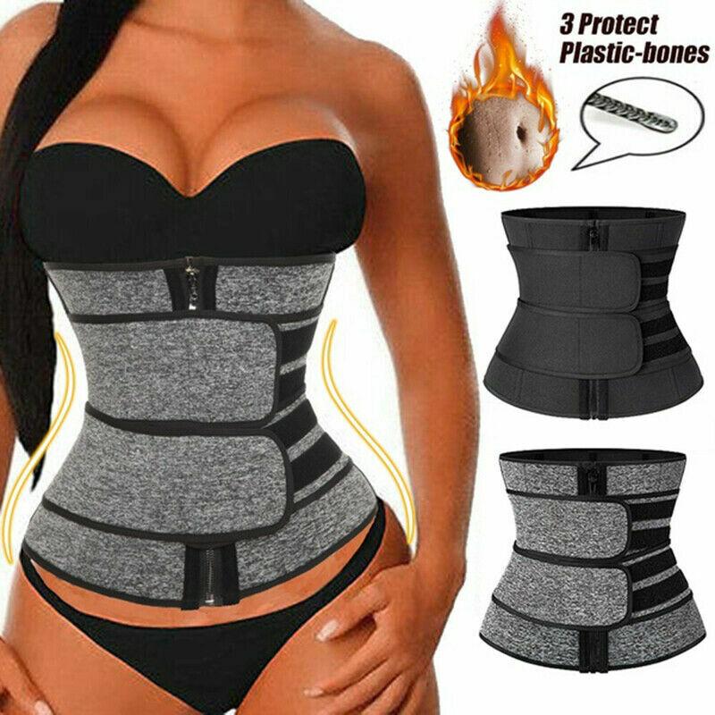 Women Waist Corset Trainer Sauna Sweat Yoga Weight Loss Body Shaper Trimmer Belt