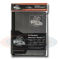 Monster Protector Album Binder 4 Pocket Holofoil Black With 20 Pages