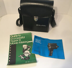 Bell & Howell 670/XL Super 8 Movie Camera CASE & MANUALS ONLY Clean
