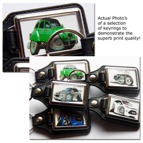 Fiat Panda Hatch Back Auto Koolart Leder und Chrom Schlüsselring