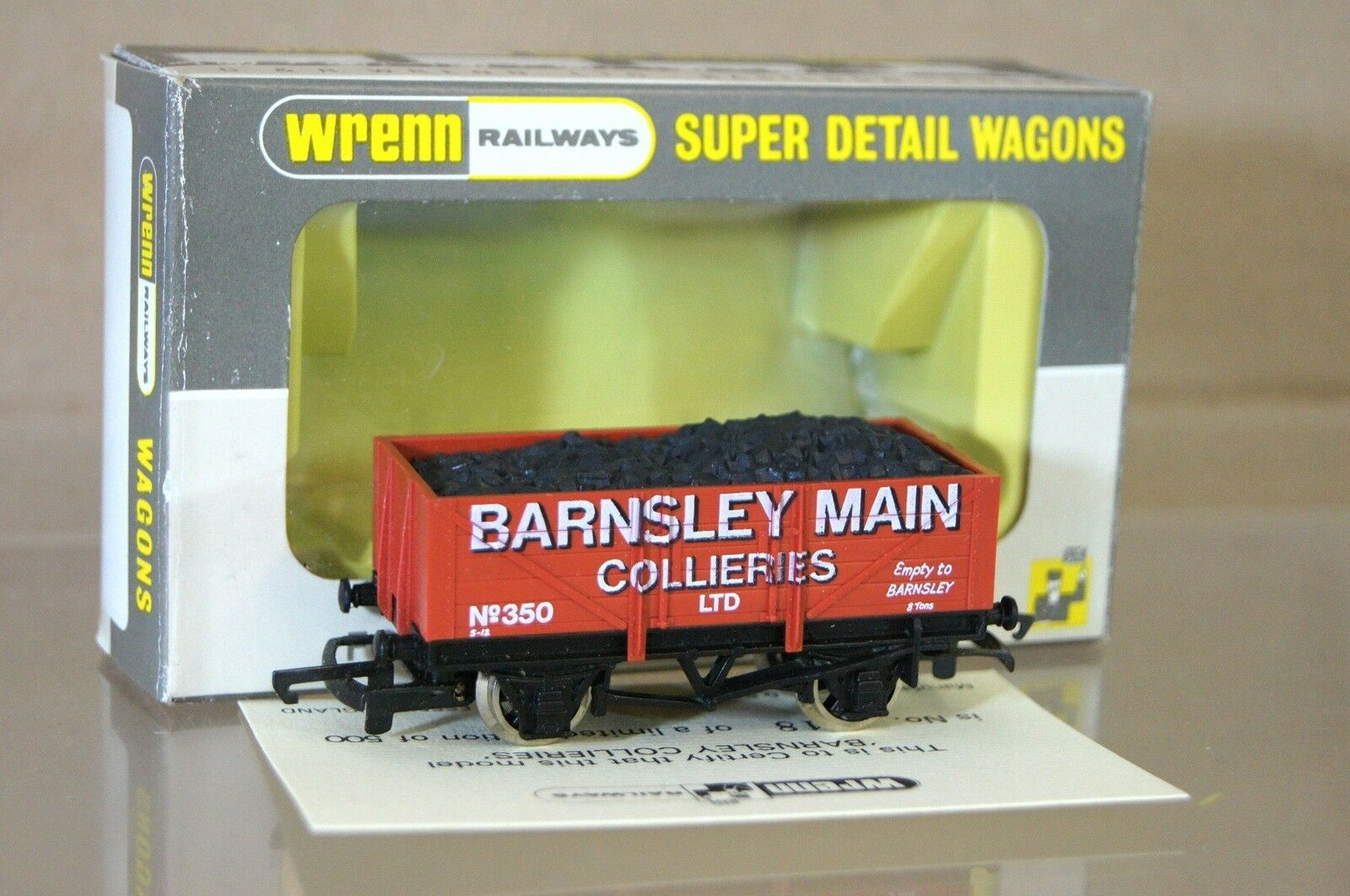 Wrenn W5500 Rojo Marrón Barnsley Principal Collieries 5 Tablones Vagón 350