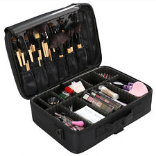 Makeup Cosmetic Case Beauty Artist Box Storage Tool Brushes Bag Organizer Black