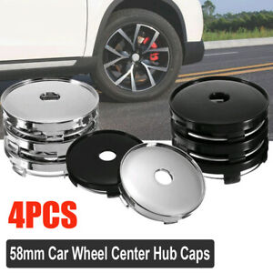 4Pcs 60mm ABS Silver//Black Car Wheel Tire Rims Center Hub Caps Cover Accessories