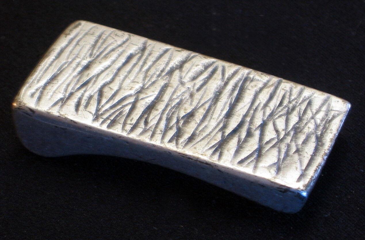 Adorno en la cintura para 25mm ancho cinturón de metal color bastones estriado nuevo top #
