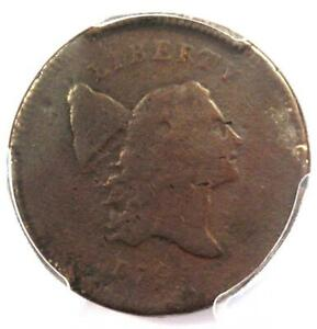 1795-Liberty-Cap-Flowing-Hair-Half-Cent-1-2C-PCGS-VG-Detail-Rare-Coin