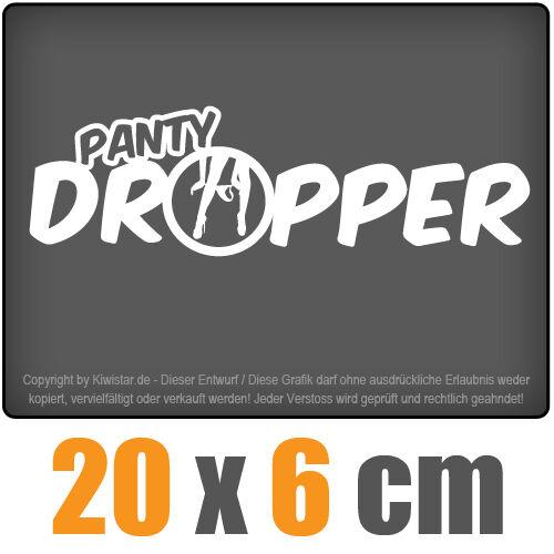 Panty dropper 20 x 6 cm JDM Decal Sticker Auto Car Weiß Scheibenaufkleber