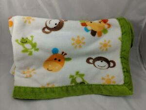 Cuddle-Me-Nojo-Baby-Blanket-Safari-Lion-Monkey-Giraffe-30-034-x-40-034