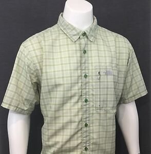 The-North-Face-Green-SHORT-SLEEVE-SHIRT-Great-For-Outdoor-Hiking-Fishing-XL