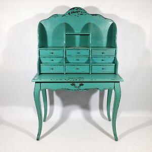sekret r shabby chic rokoko antiker schreibtisch schminktisch barock vintage art ebay. Black Bedroom Furniture Sets. Home Design Ideas