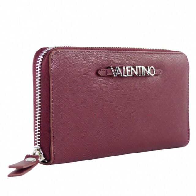 Valentino Sea Winter Zip Around Wallet Geldbörse Bordeaux