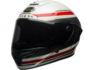 Casque-moto-route-integral-BELL-Race-Star-Sector-RSD-Rouge-blanc