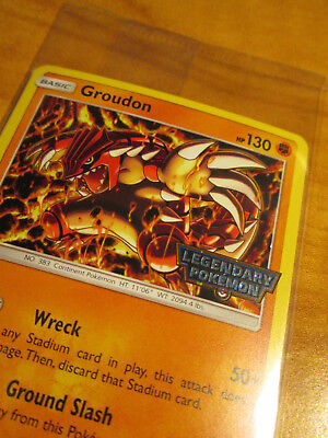 SEALED Pokemon GROUDON Card CELESTIAL STORM Set 81//168 Gamestop Legendary PROMO