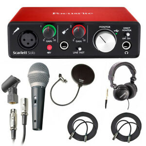 focusrite scarlett solo usb audio interface 2nd gen mic headphones more 690002714663 ebay. Black Bedroom Furniture Sets. Home Design Ideas