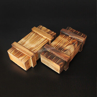 2 X 16 Scale Wooden Crate Weapon Box Unopenable Model Fits 12 Action Figure 725732195779 Ebay