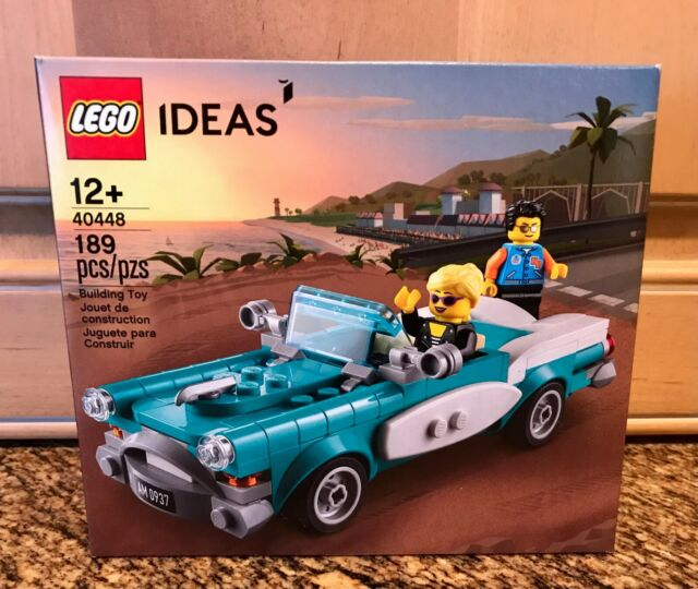 LEGO IDEAS Vintage Car 40448 VIP Exclusive Promo Minifigures Sports Convertible
