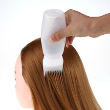 Hot Hair Dye Bottle Applicator Brush Dispensing Salon Hair Coloring Dyeing White