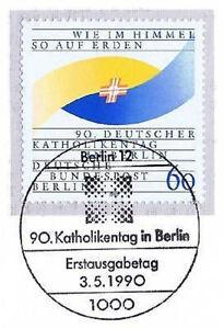 Prix Bas Avec Berlin 1990: 90. Katholikentag Nº 873 Avec Propre Ersttags-cachet Spécial! 1a-rstempel! 1afr-fr Afficher Le Titre D'origine