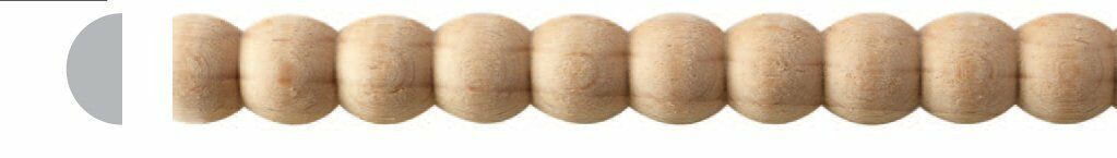 5//16W-1-1//2W x 8ft Wood Rope Moulding Trim Molding Total 80ft Oak Various Maple 10pc 1W, Maple