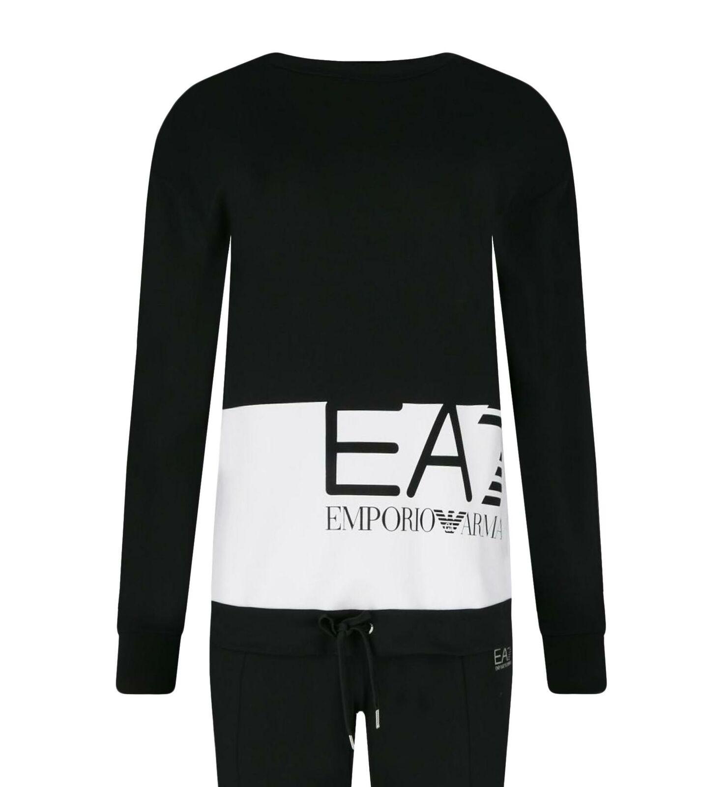 Tracksuit EA7 Emporio Armani 7 EA Woman schwarz Sweatshirt Sweatshirt Sweatshirt Pants Logo ef9