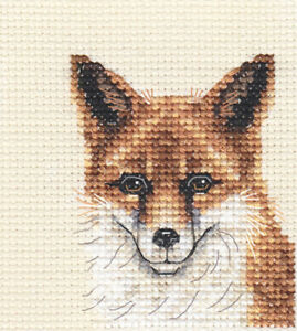RED FOX ~ Full counted cross stitch kit with all materials