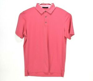 NEW-Greyson-Mens-Golf-Shirt-Katonah-Amaryllis-Polo-Pink-Orange-Size-Medium